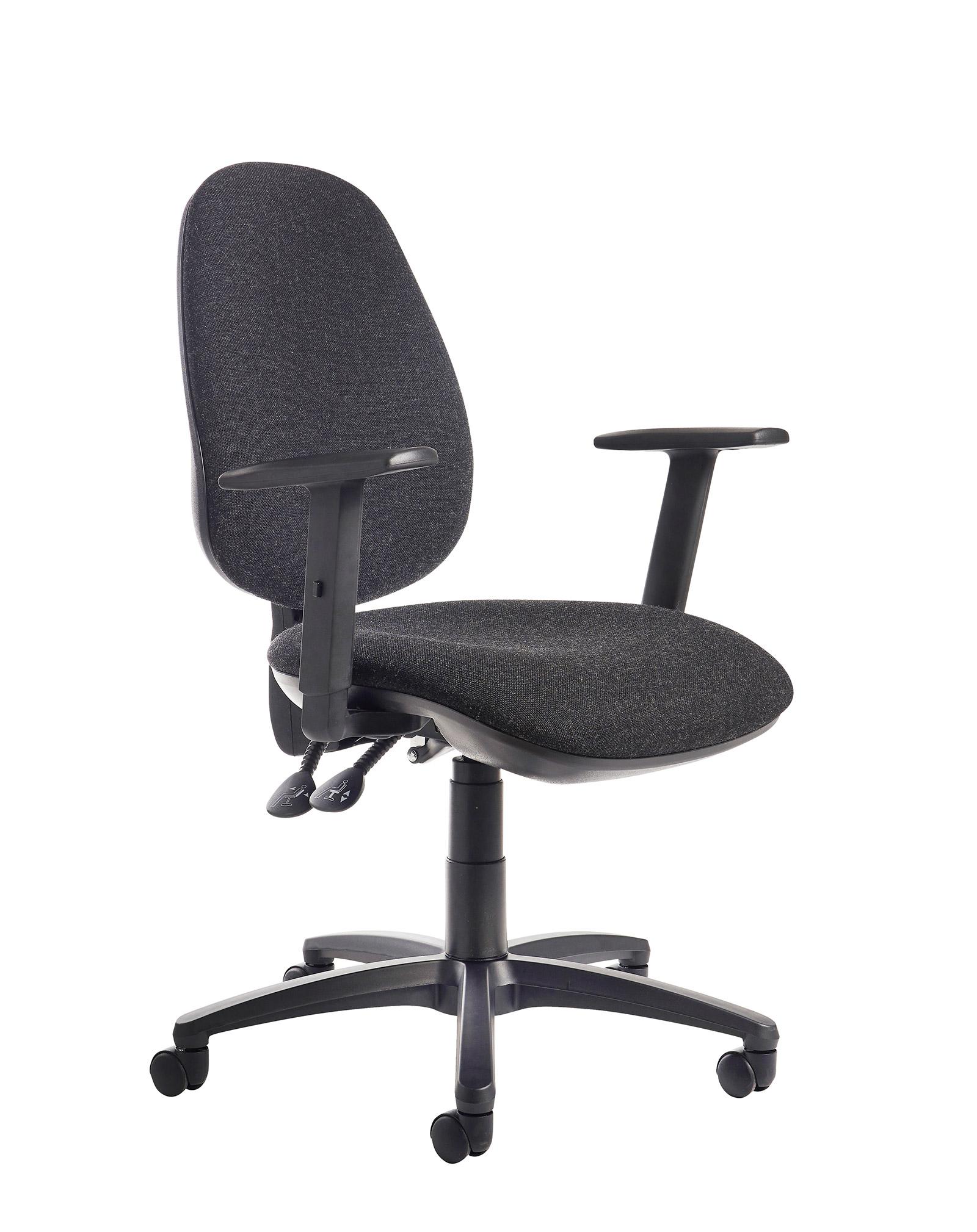 Jota high back operator chair with adjustable arms - charcoal