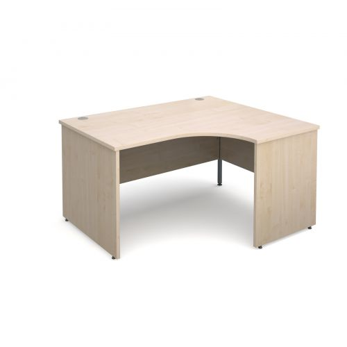 Maestro 25 PL right hand ergonomic desk 1400mm - maple panel leg design