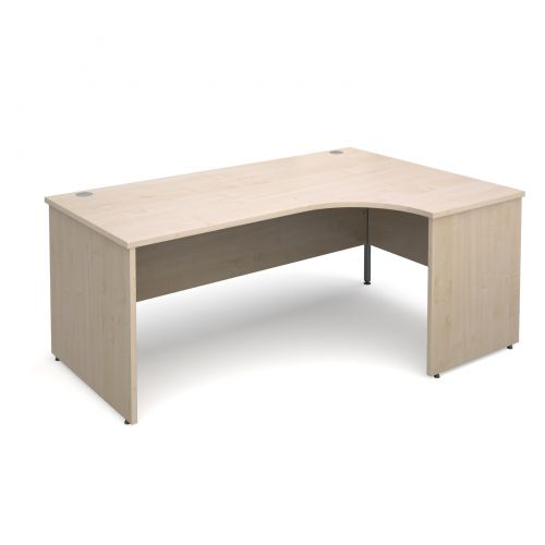 Maestro 25 PL right hand ergonomic desk 1800mm - maple panel leg design