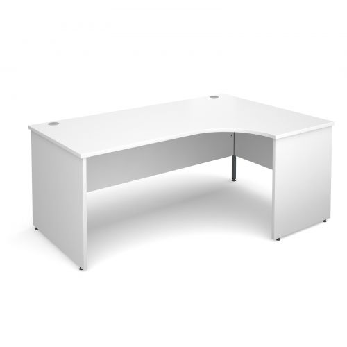Maestro 25 PL right hand ergonomic desk 1800mm - white panel leg design
