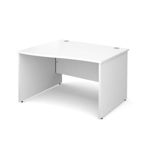 Maestro 25 PL left hand wave desk 1200mm - white panel leg design