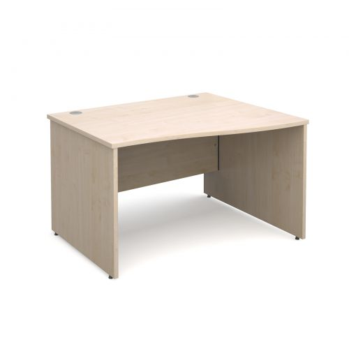 Maestro 25 PL right hand wave desk 1200mm - maple panel leg design