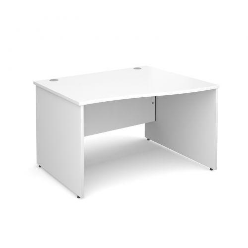 Maestro 25 PL right hand wave desk 1200mm - white panel leg design