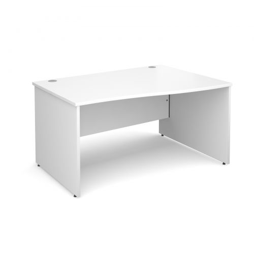 Maestro 25 PL right hand wave desk 1400mm - white panel leg design