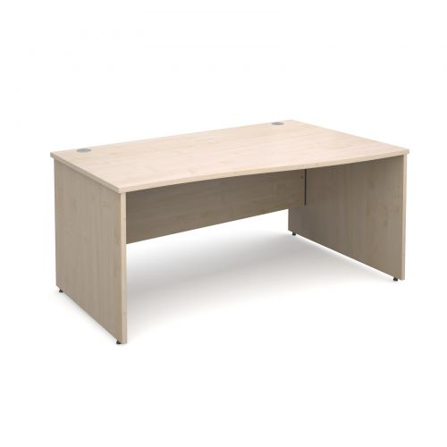 Maestro 25 PL right hand wave desk 1600mm - maple panel leg design
