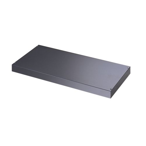 Image for Plain steel shelf internal fitment for systems storage - graphite grey