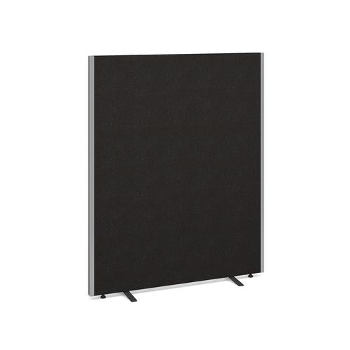 Image for Floor standing fabric screen 1500mm high x 1200mm wide - charcoal