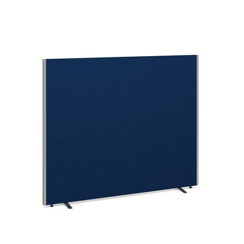 Floor standing fabric screen 1500mm x 1800mm - blue