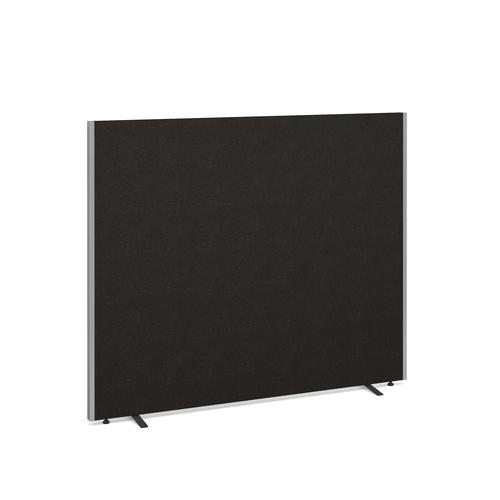 Floor standing fabric screen 1500mm x 1800mm - charcoal