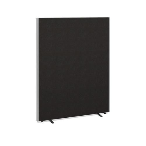 Floor standing fabric screen 1800mm x 1400mm - charcoal