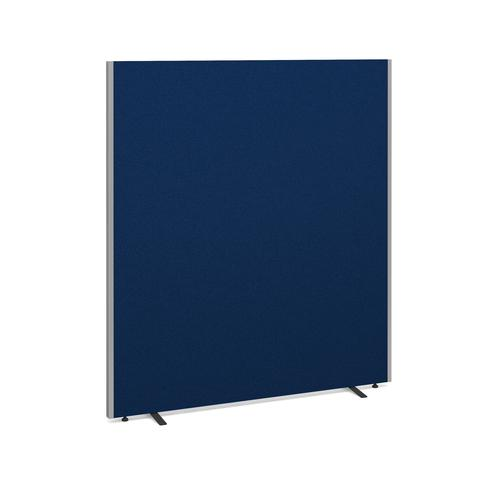 Image for Floor standing fabric screen 1800mm high x 1600mm wide - blue