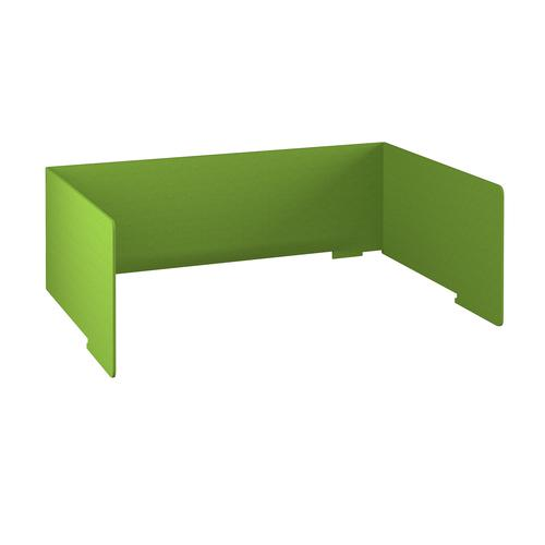 Free-standing high acoustic 3-sided desktop screen 1800mm wide - apple green