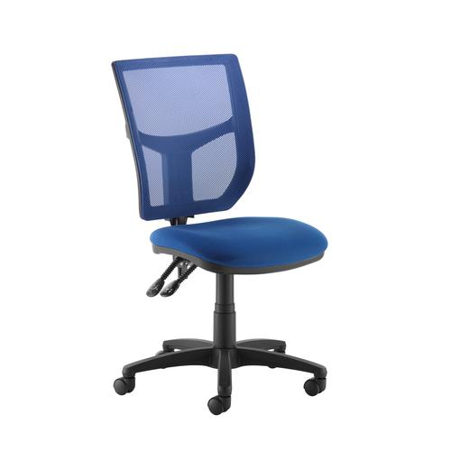 Image for Altino coloured mesh back operators chair with no arms - blue mesh and fabric seat