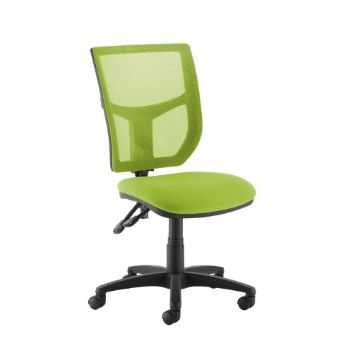 Image for Altino coloured mesh back operators chair with no arms - green mesh and fabric seat