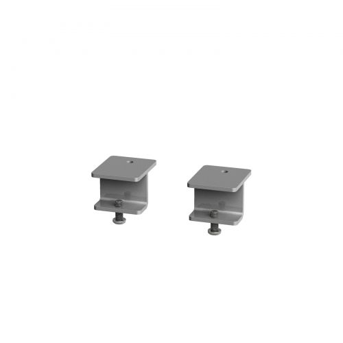 Glazed screen brackets for single Adapt and Fuze desks or runs of single desks (pair) - black