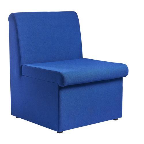 Alto modular reception seating with no arms - blue