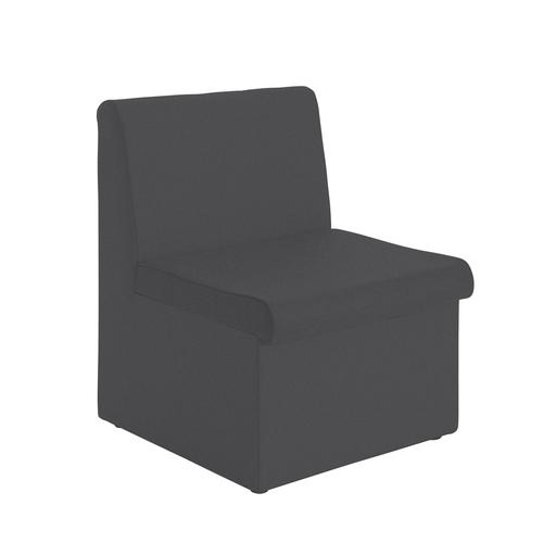 Alto modular reception seating with no arms - charcoal