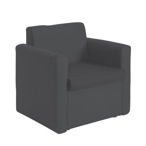 Alto modular reception seating armchair - charcoal