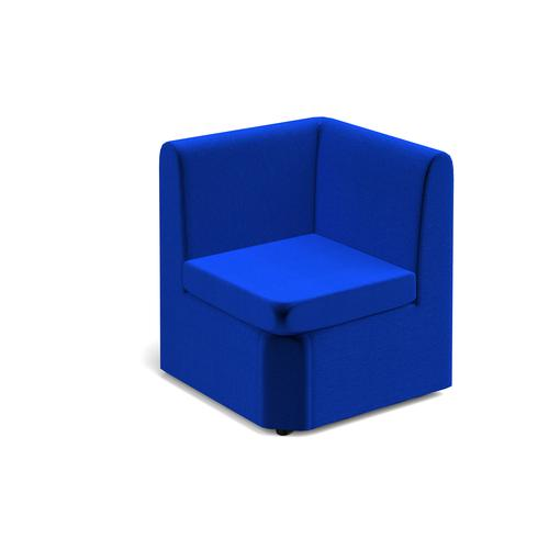 Alto modular reception seating corner unit - blue