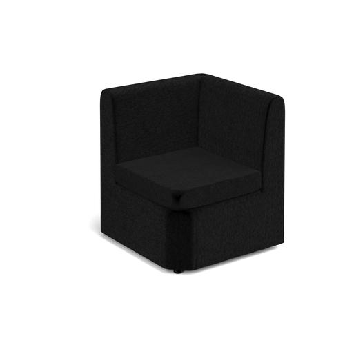 Alto modular reception seating corner unit - charcoal