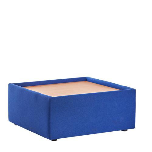 Alto modular reception seating wooden table - blue