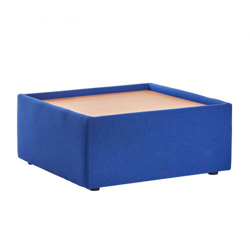 Alto modular reception seating wooden table - blue