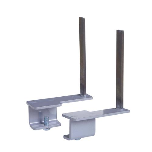 Aluminium framed screen brackets - back