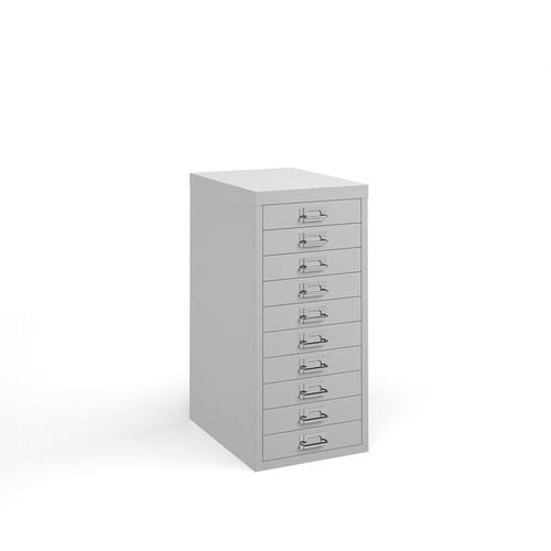 Bisley multi drawers with 10 drawers - white
