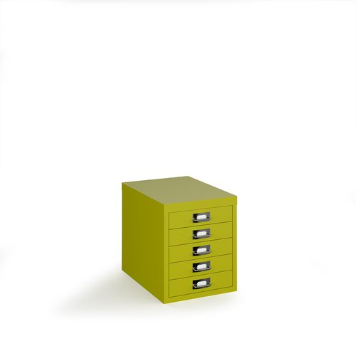 Bisley multi drawers with 5 drawers - green
