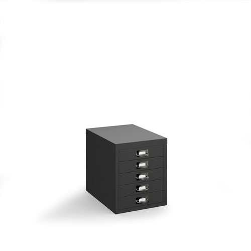 Image for Bisley multi drawers with 5 drawers - black