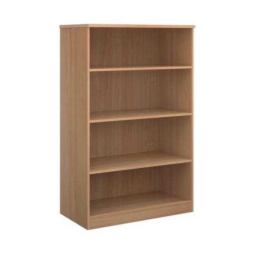 Image for Deluxe bookcase 1600mm high with 3 shelves - beech