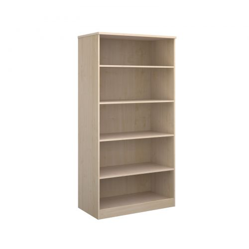Deluxe bookcase 2000mm high with 4 shelves - maple