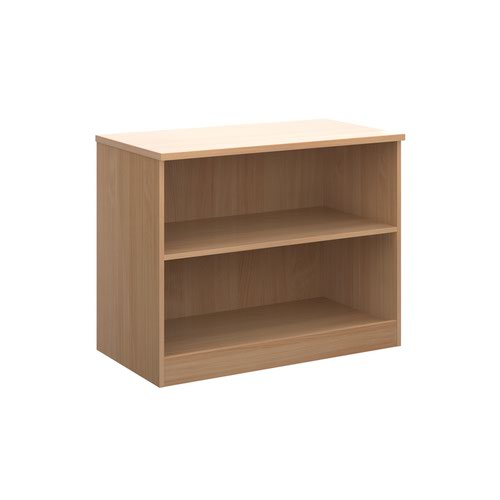 Deluxe bookcase 800mm high with 1 shelf - beech