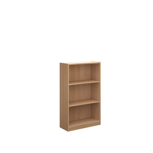 Image for Economy bookcase 1236mm high with 2 shelves - beech