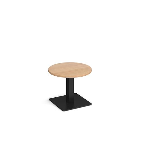 Image for Brescia circular coffee table with flat square black base 600mm - beech