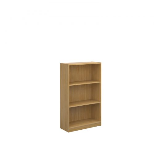 Image for Economy bookcase 1236mm high with 2 shelves - oak