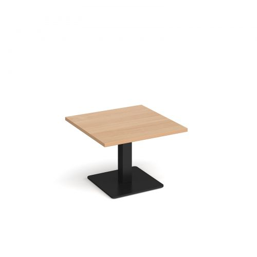 Image for Brescia square coffee table with flat square black base 700mm - beech