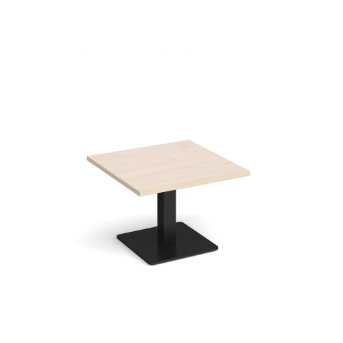 Image for Brescia square coffee table with flat square black base 700mm - maple
