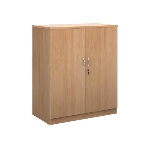 Image for Deluxe double door cupboard 1200mm high with 2 shelves - beech