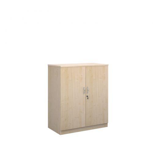 Deluxe double door cupboard 1200mm high with 2 shelves - maple