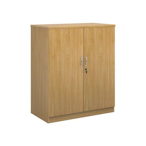 Image for Deluxe double door cupboard 1200mm high with 2 shelves - oak