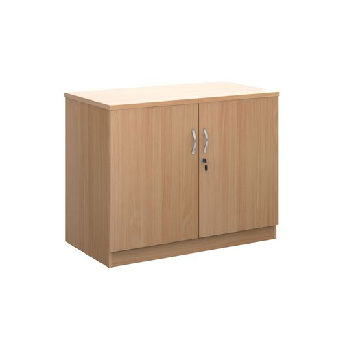 Deluxe double door cupboard 800mm high with 1 shelf - beech