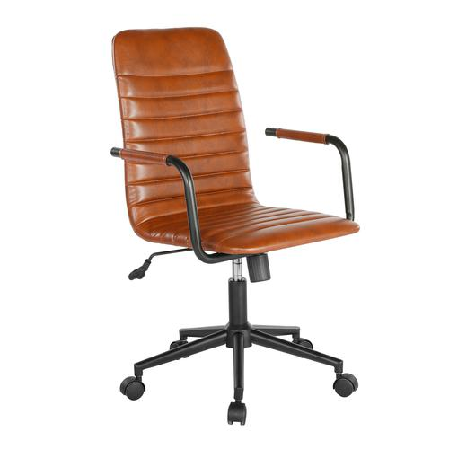 Beat medium back faux leather operators chair - brown