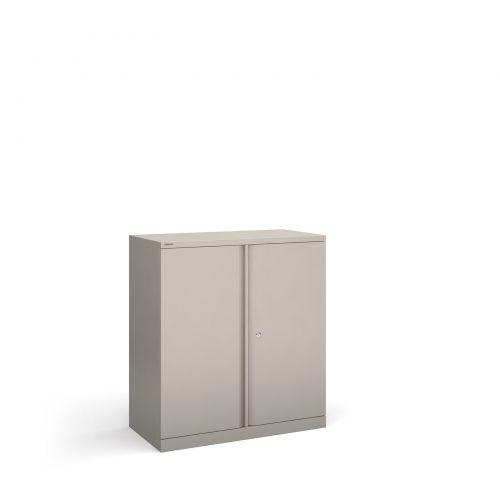 Bisley systems storage low cupboard 1000mm high - goose grey