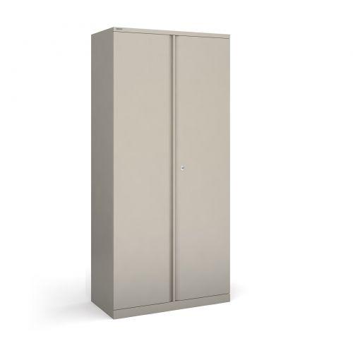 Bisley systems storage high cupboard 1970mm high - goose grey