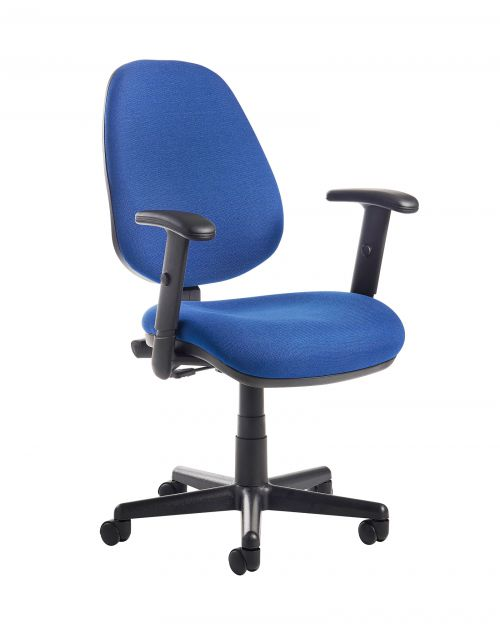 Image for Bilbao fabric operators chair with adjustable arms - blue