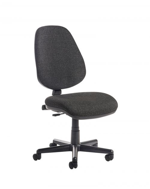 Bilbao fabric operators chair with no arms - charcoal