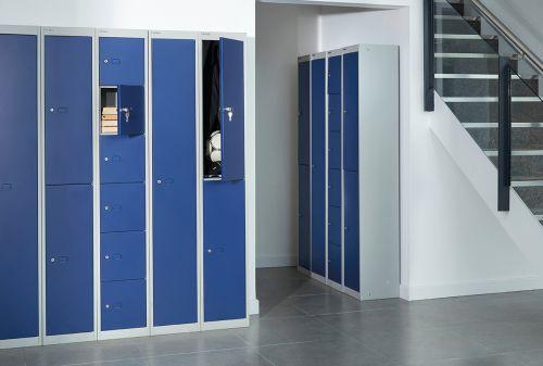 Bisley Locker 4 Door Goose Grey 305d Ref CLK124-av4