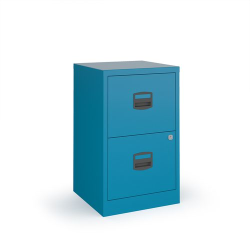 Image for Bisley A4 home filer with 2 drawers - blue