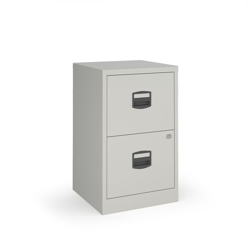 Bisley A4 home filer with 2 drawers - grey